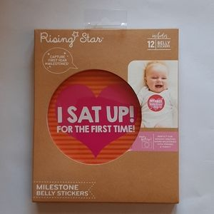 Milestone baby's first year belly stickers 12set
